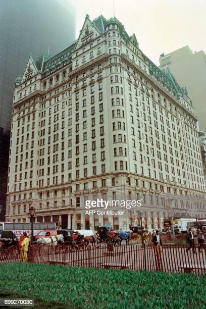 Photo taken on April 12 1995 in New York shows the PLaza Hotel located in the Midtown Manhattan neighborhood of the borough of Manhattan and bought...