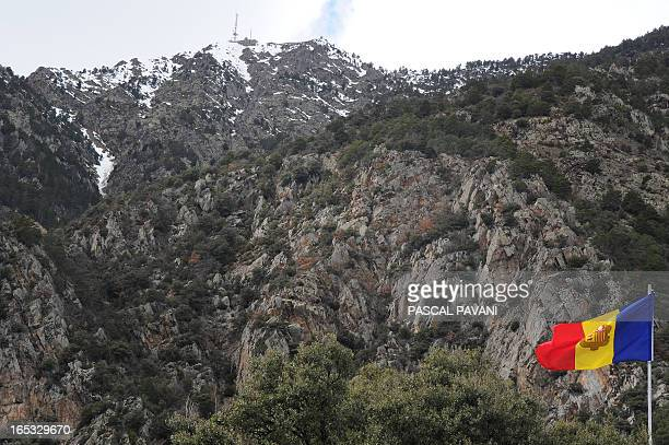 A photo taken on April 2 2013 shows the flag of the Andorra principality in Andorra La Vella AFP PHOTO / PASCAL PAVANI