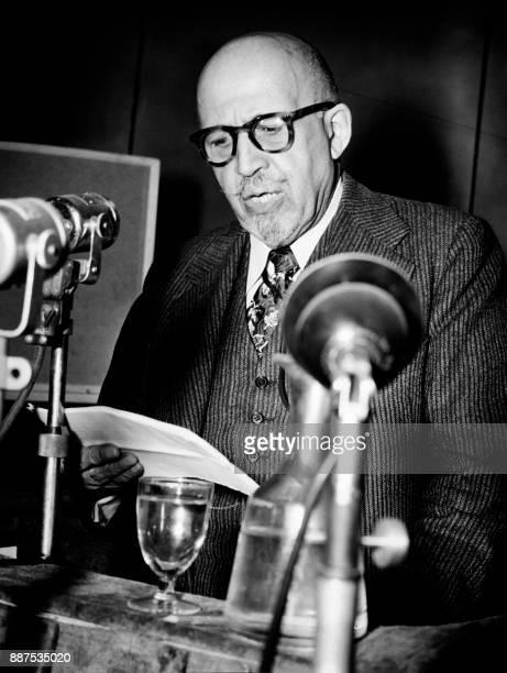 Photo taken on April 22 1949 shows William Edward Burghardt 'W E B' Du Bois US sociologist historian civil rights activist PanAfricanist author...