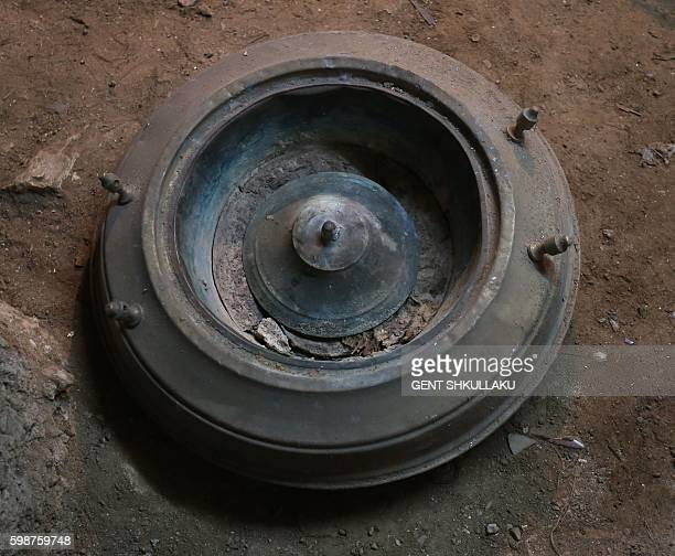 A photo taken on August 12 2016 in Tirana shows an old brazier that belonged to the mother and sister of Mother Teresa the nun who spent most of her...