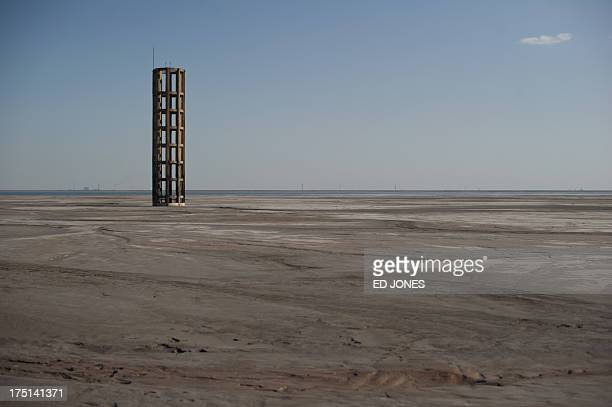 A photo taken on August 19 2012 shows a general view of a 'toxic lake' surrounded by rare earth refineries near the inner Mongolian city of Baotou On...