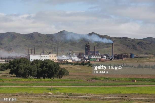 A photo taken on August 20 2012 shows a general view of a rare earth refinery north of the inner Mongolian city of Baotou On the edge of the Chinese...