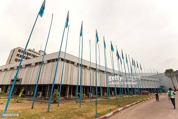 A photo taken on August 27 2014 shows the building of the Foreign Ministry of the Democratic Republic of Congo in Kinshasa AFP PHOTO / Junior D Kannah