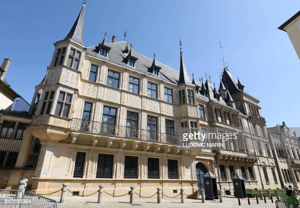 A photo taken on August 29 2017 shows the Grand Ducal Palace in Luxembourg