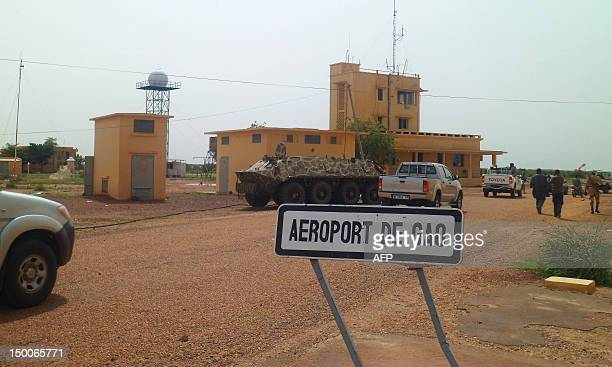 Photo taken on August 7, 2012 shows the airport in Gao, Mali. Mali's government said on August 9 that military intervention in the Islamist-held...