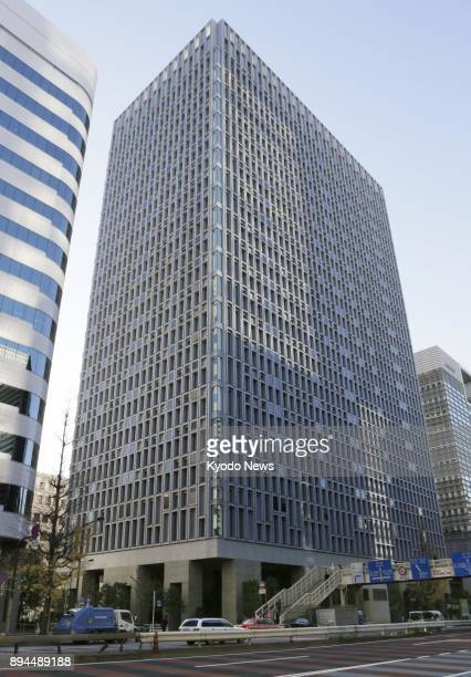 Photo taken on Dec 18 shows the headquarters of Japanese major contractor Shimizu Corp in Tokyo Prosecutors raided Shimizu the same day over alleged...