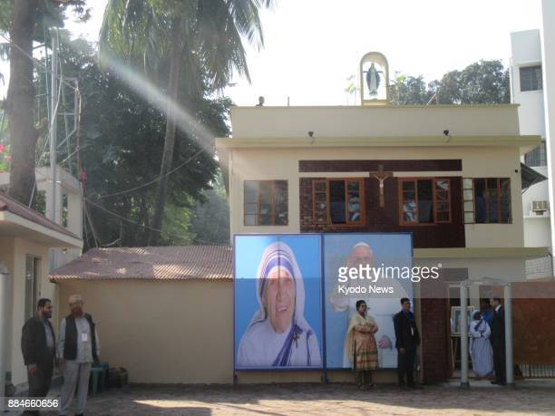 Photo taken on Dec 2 of Mother Theresa's House of Compassion in Dhaka's Tejgaon area where Pope Francis visited to meet with the disabled and the...