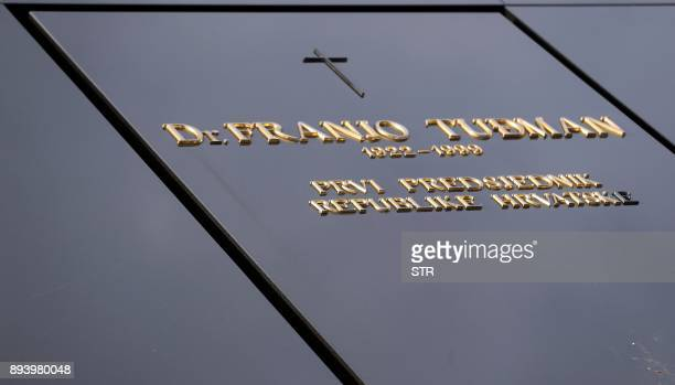 A photo taken on December 14 2017 shows the grave of late Croatian President Franjo Tudjman in Zagreb's main cemetery Croatia Tourists flying into...