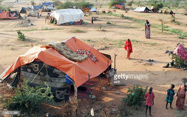 Photo taken on December 15 2011 shows the Transit Centre in Dolo Ado Ethiopia Over 300000 refugees have fled severe drought conflict and famine in...
