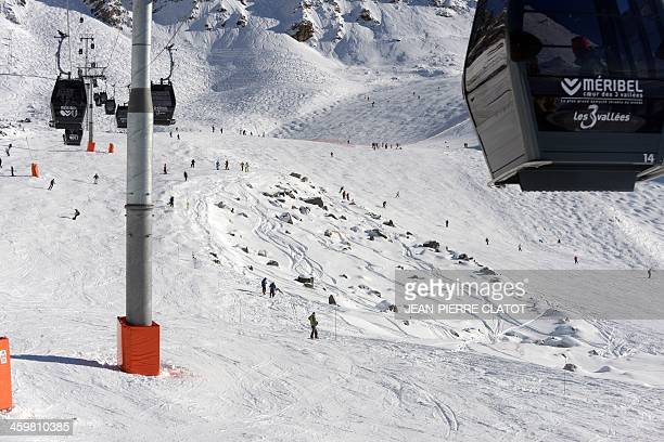 A photo taken on December 31 2013 in Meribel shows a general view of the offpiste spot where seventime German Formula One world champion Michael...