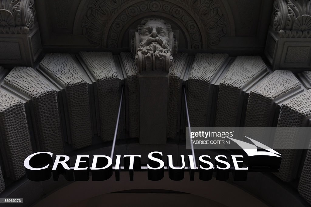 Photo taken on December 6, 2008 shows the logo of the Credit Suisse at one of the Swiss bank branch in Zurich. The Swiss government on December 5, 2008 proposed giving shareholders more control over executive pay, but rejected calls for strict rules that could compromise the country's competitiveness as a financial centre.