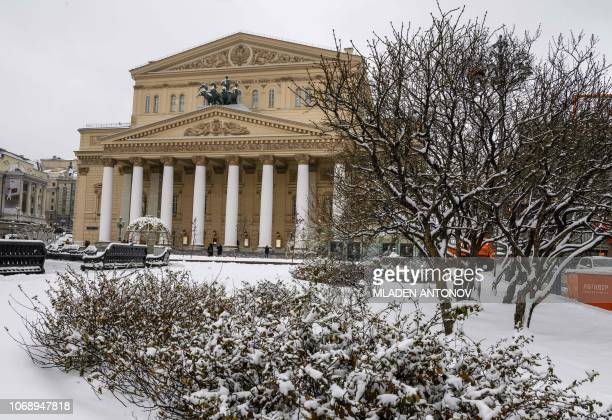 A photo taken on December 6 2018 shows the Bolshoi Theatre in Moscow