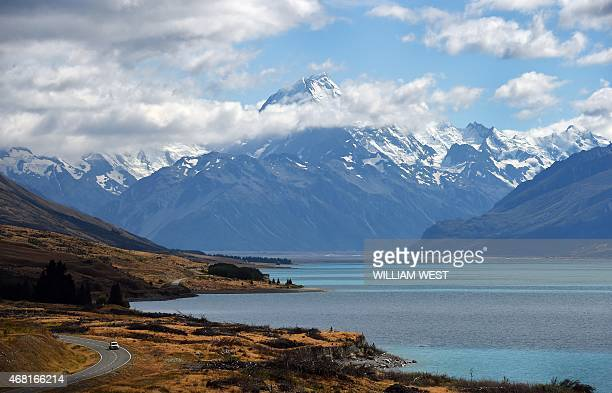 A photo taken on Febraury 25 shows New Zealand's highest mountain Mount Cook also known by it's Maori name of Aoraki which sits in the Southern Alps...