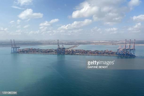 Photo taken on February 1, 2021 shows the Djibouti harbour.