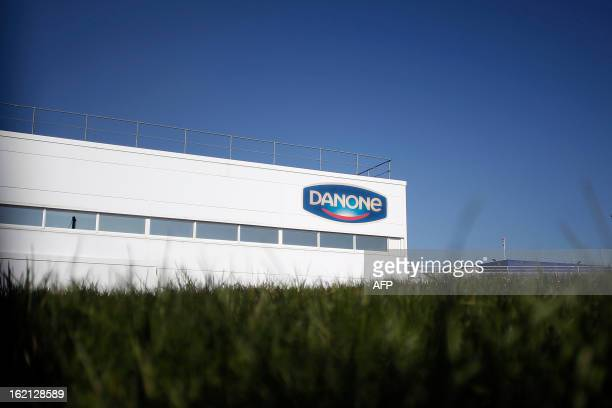 Photo taken on February 19 2013 shows French Dairy firm Danone's biggest plant in FerrieresenBray northwestern France French food industry group...