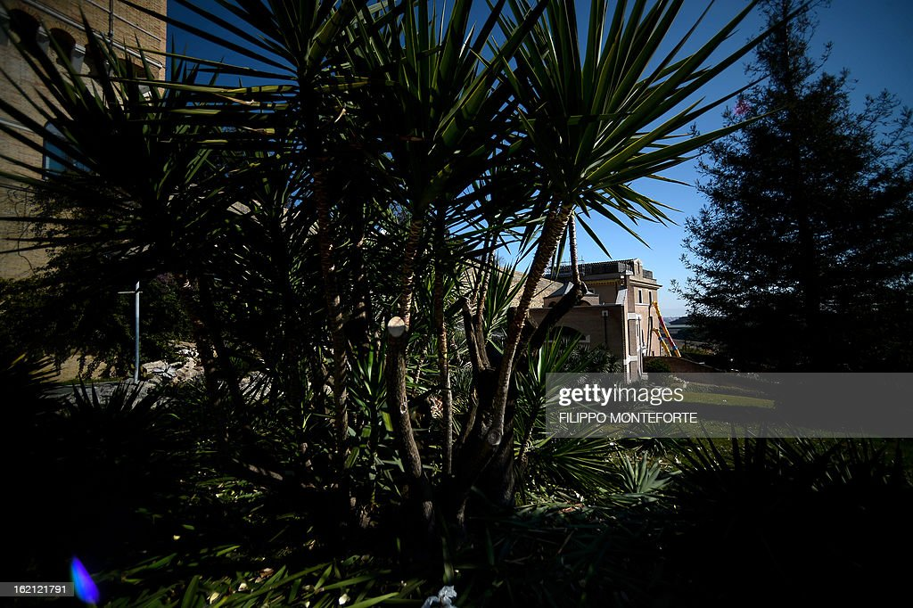 A photo taken on February 19, 2013 shows the convent of Mater Ecclesiae (Mother of the Church) in the Vatican City State. The building will host Pope Benedict XVI, offering him a substantial four-story modern home complete with contemporary chapel, garden and a roof terrace looking out from a rise dominated by the Holy See's TV transmission tower. Pope Benedict XVI began a week-long spiritual retreat out of the public eye on Monday ahead of his resignation on February 28 with the field of candidates to succeed him still wide open. AFP PHOTO/ Filippo MONTEFORTE