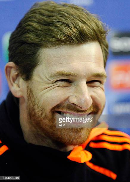 Photo taken on February 20, 2012 shows Chelsea's manager Andre Villas Boas during a press conference at the San Paolo Stadium in Naples. Villas-Boas...