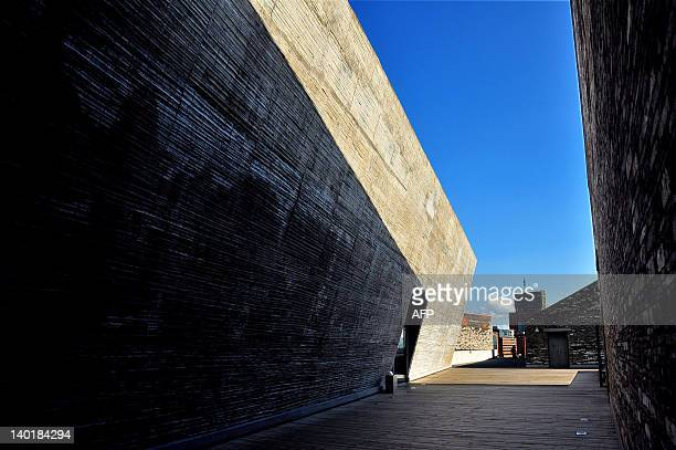 A photo taken on February 29 2012 shows a view of the Ningbo Museum designed by Chinese architect Wang Shu in Ningbo east China's Zhejiang province...