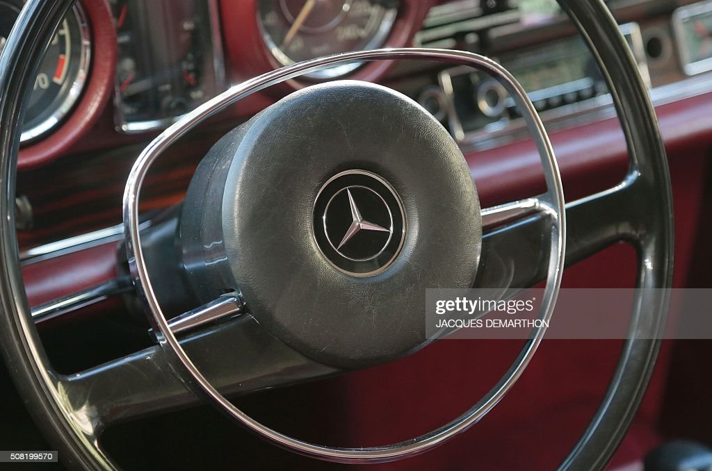 A Photo Taken On February 3 2016 Shows A Steering Wheel Logo Of A News Photo Getty Images
