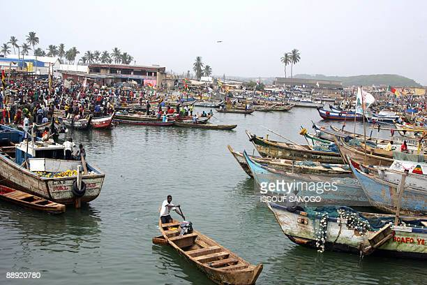 Photo taken on February 4 2008 of the fishing habour at the foot of Elmina castle near Cape Coast US President Barack Obama during his 24hour visit...
