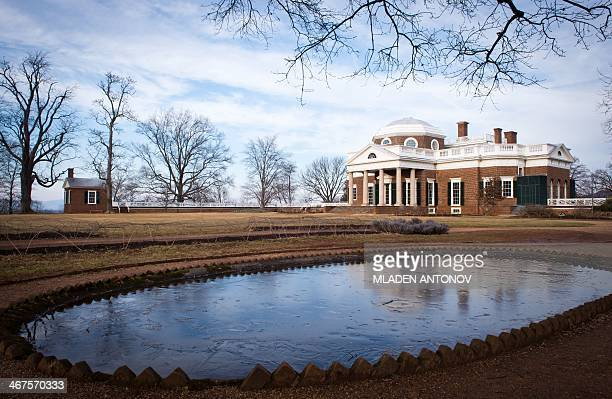 A photo taken on February 5 2014 shows Monticello the residence of one of the US Founding Fathers former US President and one of the United States...