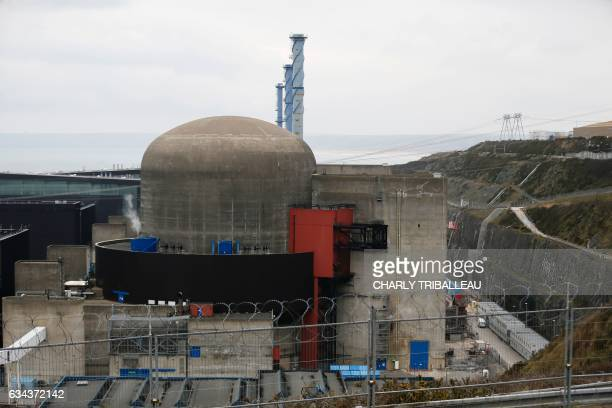 A photo taken on February 9 2017 shows nuclear reactor number 1 of the Flamanville nuclear plant after an explosion at the plant in Flamanville...