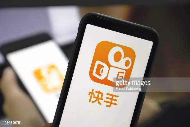 Photo taken on Jan. 27, 2021 shows an app called Kuaishou interface for mobile phones in Yichang, Hubei Province, China. Kuaishou IPO has been more...