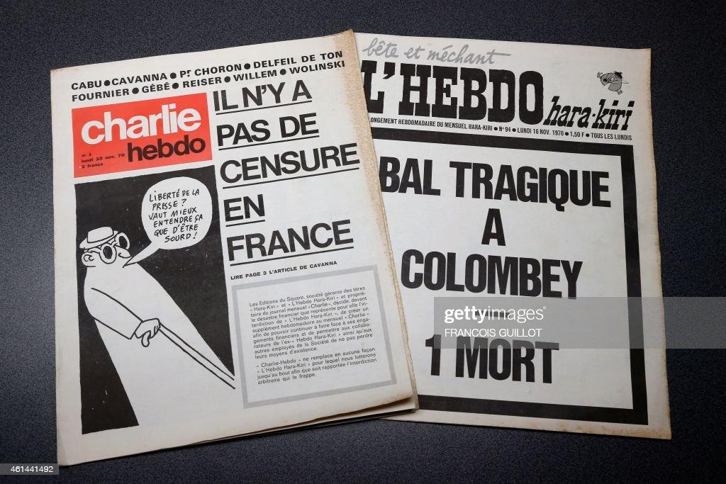 FRANCE-MEDIA-HARA-KIRI-CHARLIE-HEBDO : News Photo