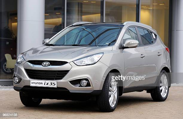 photo taken on january 15 2010 shows a hyundai ix35 car at the kia picture id
