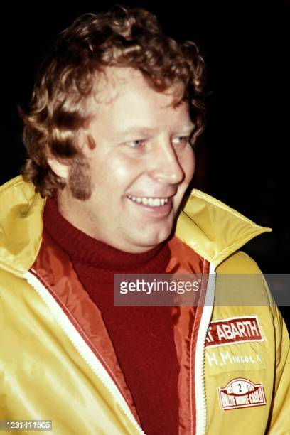 Photo taken on January 17 Finnish driver Hannu Mikkola attends the Monte-Carlo Rally in Monaco. - Hannu Mikkola, one of the top 10 rally drivers of...