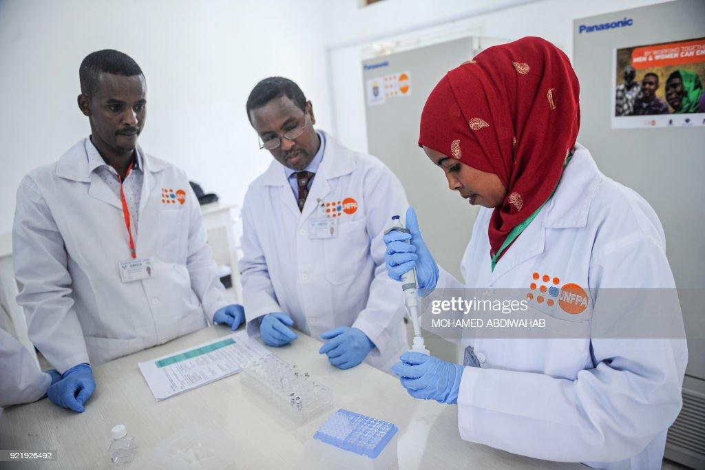 SOMALIA-UNFPA-FORENSIC CENTER-POLICE : News Photo