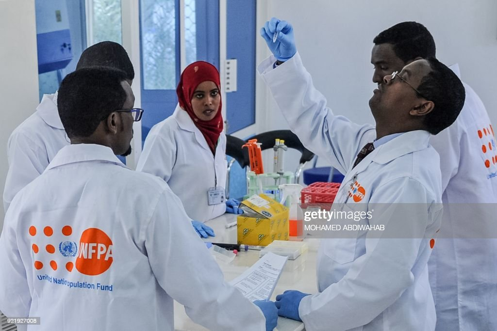 SOMALIA-UNFPA-FORENSIC CENTER-POLICE : News Photo