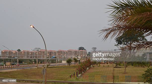 A photo taken on January 25 2015 in Malabo shows a residential area in the new administrative district of Malabo II AFP PHOTO / ISSOUF SANOGO