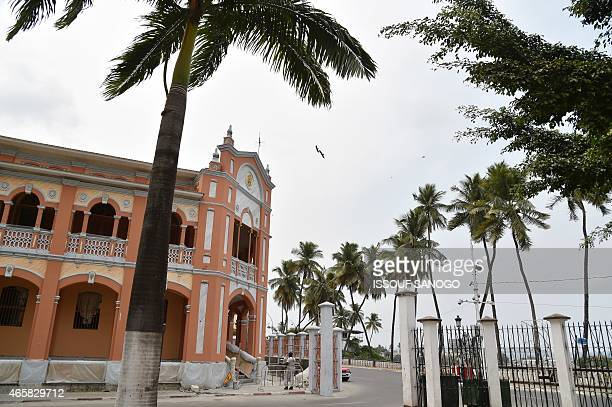 Photo taken on January 25 2015 show the annex to Malabo's Cathedral in Equatorial Guinea AFP PHOTO / ISSOUF SANOGO