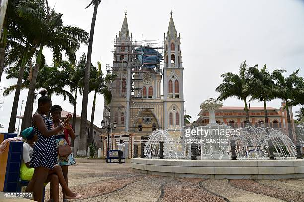 Photo taken on January 25 2015 show the view of Malabo's Cathedral in Equatorial Guinea AFP PHOTO / ISSOUF SANOGO