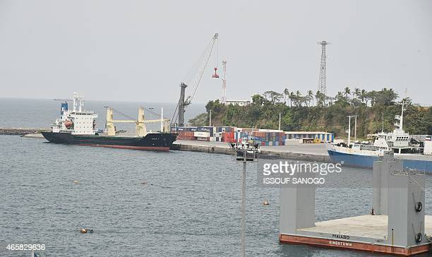 Photo taken on January 25 2015 show view of Malabo's Port in Equatorial Guinea AFP PHOTO / ISSOUF SANOGO