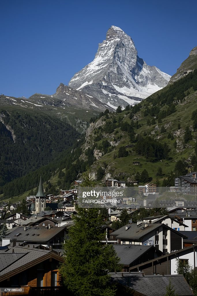 SWITZERLAND-MOUNTAINEERING-TOURISM-COMMEMORATION-MATTERHORN : News Photo