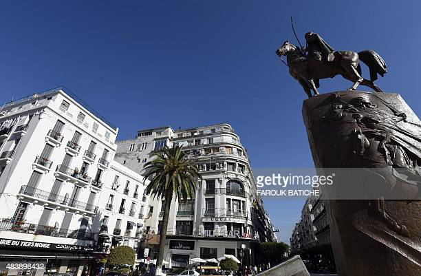 A photo taken on July 28 2015 shows the centre of the Algerian capital Algiers Faced with a burst in population growth Algeria is constructing...