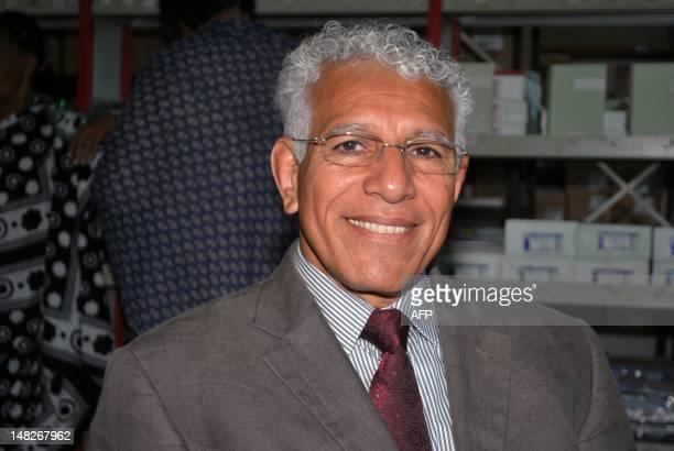 CHANGAMA A photo taken on June 19 2012 shows Comoran writer Mohamed Nabhane posing at Moroni airport Nabhane's Mtsamdu Kashkazi kusi Misri meaning...