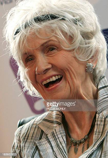 A photo taken on June 25 2009 in Dublin Ireland shows Canadian author Alice Munro who has been awarded the 2013 Nobel Literature Prize the Royal...