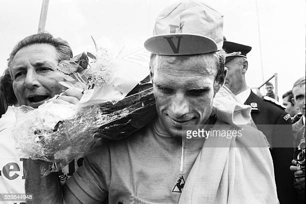 A photo taken on June 28 1969 shows German cyclist on Rudi Altig during the Tour de France cycling race Rudi Altig a former world champion and who...