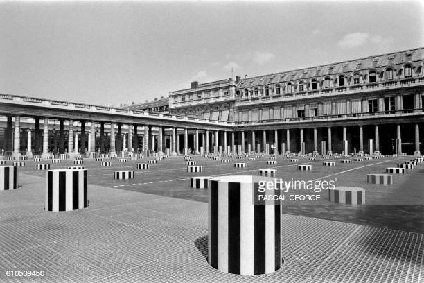 Photo taken on June 30 1986 shows the 3000 squaremeter sculpture more commonly referred to as the Colonnes de Buren at the great courtyard of the...