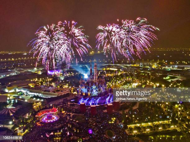 BEIJING Photo taken on June 4 2016 shows the night scene of Shanghai Disney Resort in Shanghai east China China is slated to become world's largest...