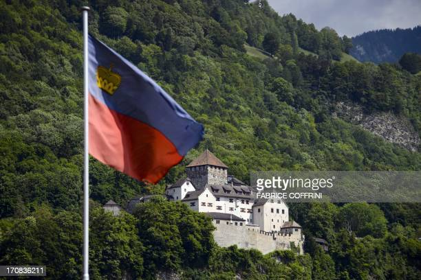 A photo taken on June 7 2013 shows the Castle of Vaduz home of the Liechtenstein princely family in Liechtenstein's capital Vaduz AFP PHOTO / FABRICE...