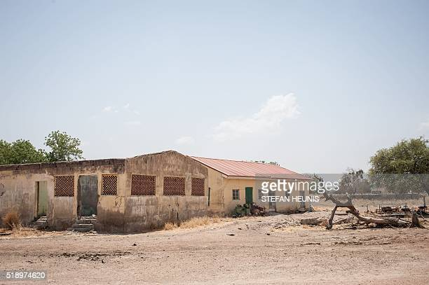 A photo taken on March 25 2016 shows a general view of the ilapidated buildings of the Government Girls Secondary School Chibok in Borno State...