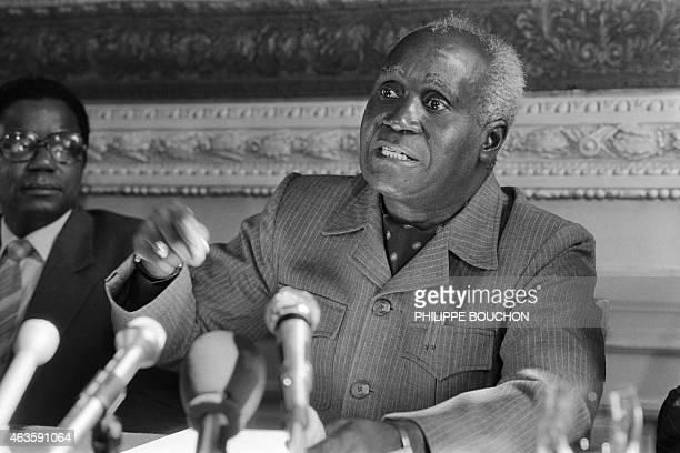 A photo taken on March 29 1983 shows Zambian President Kenneth Kaunda giving a press conference in Paris AFP PHOTO / PHILIPPE BOUCHON