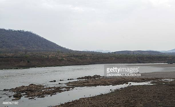 A photo taken on March 31 2015 shows the Nile river about 50 kms upstream of the Grand Renaissance Dam under construction near the SudaneseEthiopian...