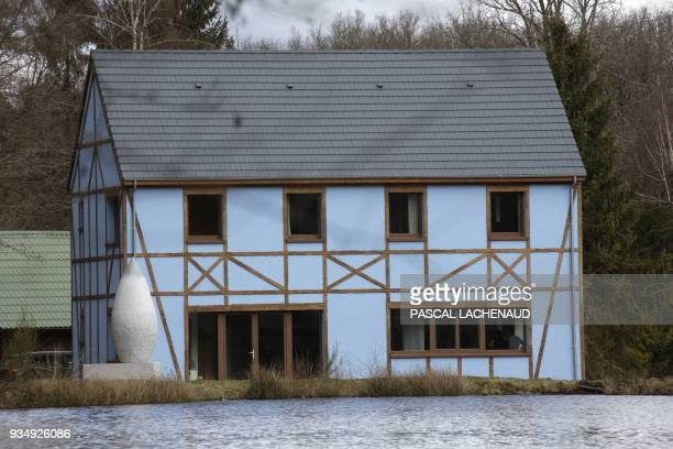 """Photo taken on March 6, 2018 shows the energy autonomous """"Avenidor"""" house in Ahun, central France. Made in aerated concrete and labeled """"Passive..."""