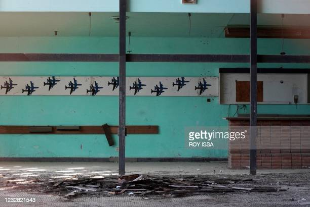 Photo taken on May 11, 2021 shows the departure hall at the abandoned Nicosia airport in the UN-protected zone of the divided Cypriot capital, 47...