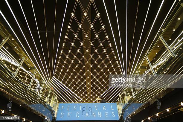 A photo taken on May 12 2015 shows the inside of the Festival's Palace before the 68th Cannes Film Festival in the southeastern French town of Cannes...